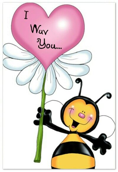 400x585 I Love You Rock Painting Bees, Rock Painting