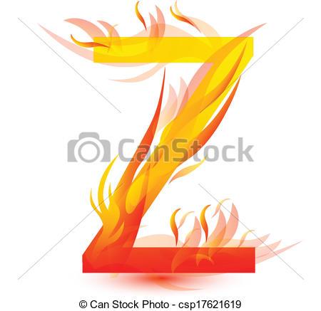 450x437 Fire Z Letter Image Design Vector Vector Clip Art