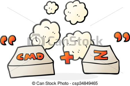450x298 Freehand Drawn Cartoon Command Z Function Clip Art Vector