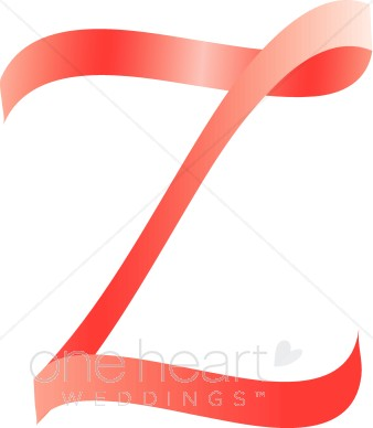 338x388 Letter Z Clipart Pink Ribbon Alphabet