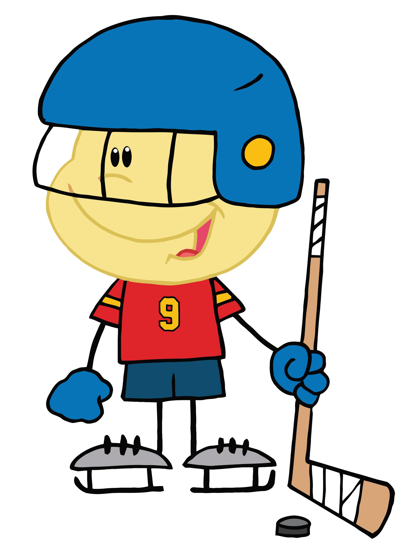 2000x2740 Hockey Clip Art