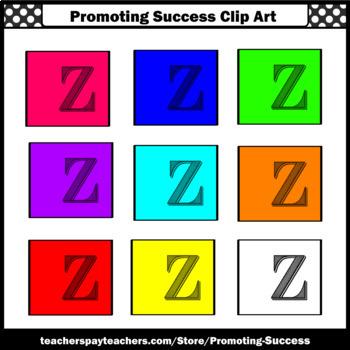 350x350 Letter Z Clipart, Alphabet Clip Art, Sps By Promoting Success Tpt
