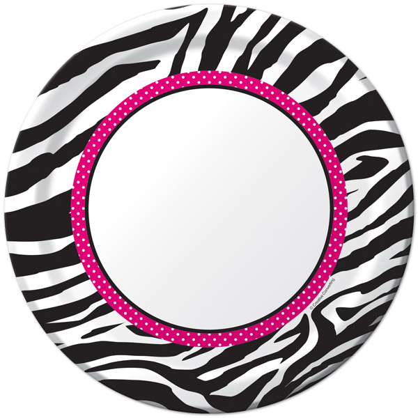 600x600 Pink And White Zebra Clipart