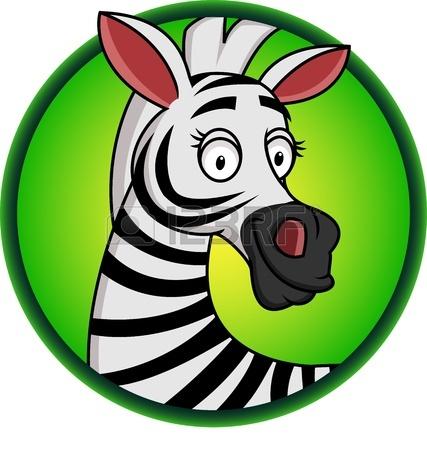 427x450 Clip Art Zebra Cartoon Clipart