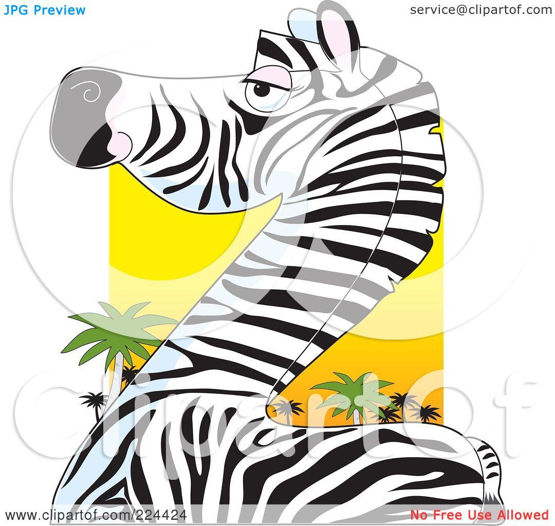 1080x1024 Royalty Free (Rf) Clipart Illustration Of A Zebra Body, Neck