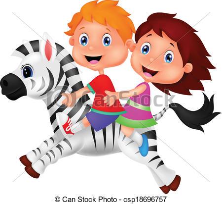 450x412 Zebra Boy Clipart
