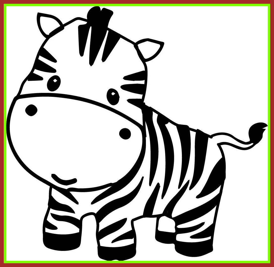 1106x1078 Awesome Pages Clip Art Zebra Cute Cartoon Animal Clipart Picture