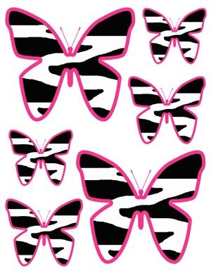 300x388 Butterfly Clipart Zebra