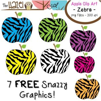 350x350 Free Zebra Print Apple Clip Art!! New Teachers