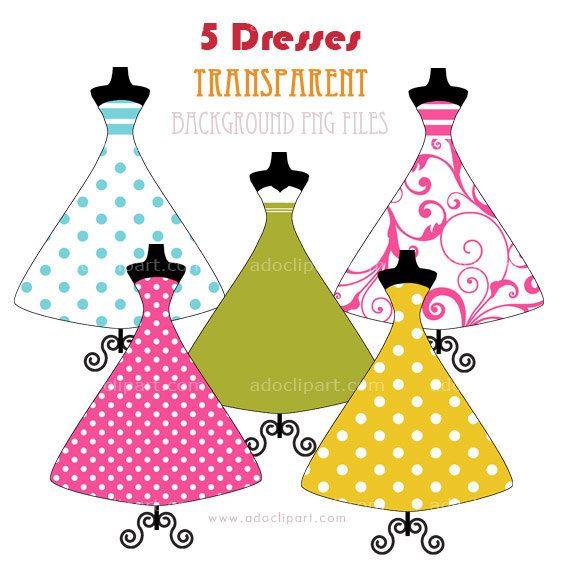 570x570 Prom dress clip art Dresses Clipart Digital Elements Clip