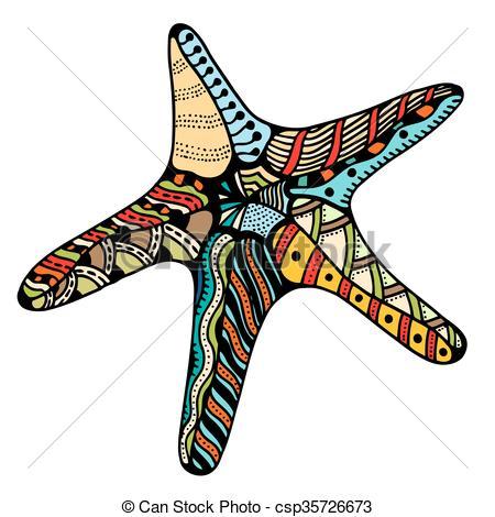 450x470 Zentangle Starfish. Starfish. Zentangle Vector Illustration