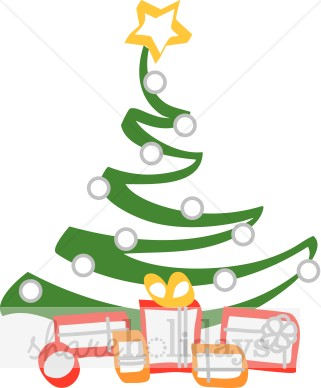 321x388 Zigzag Christmas Tree With Gifts Christmas Tree Clipart