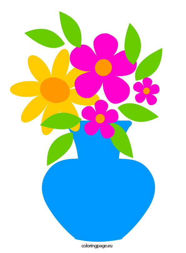 595x808 Flowers In Vase Clip Art
