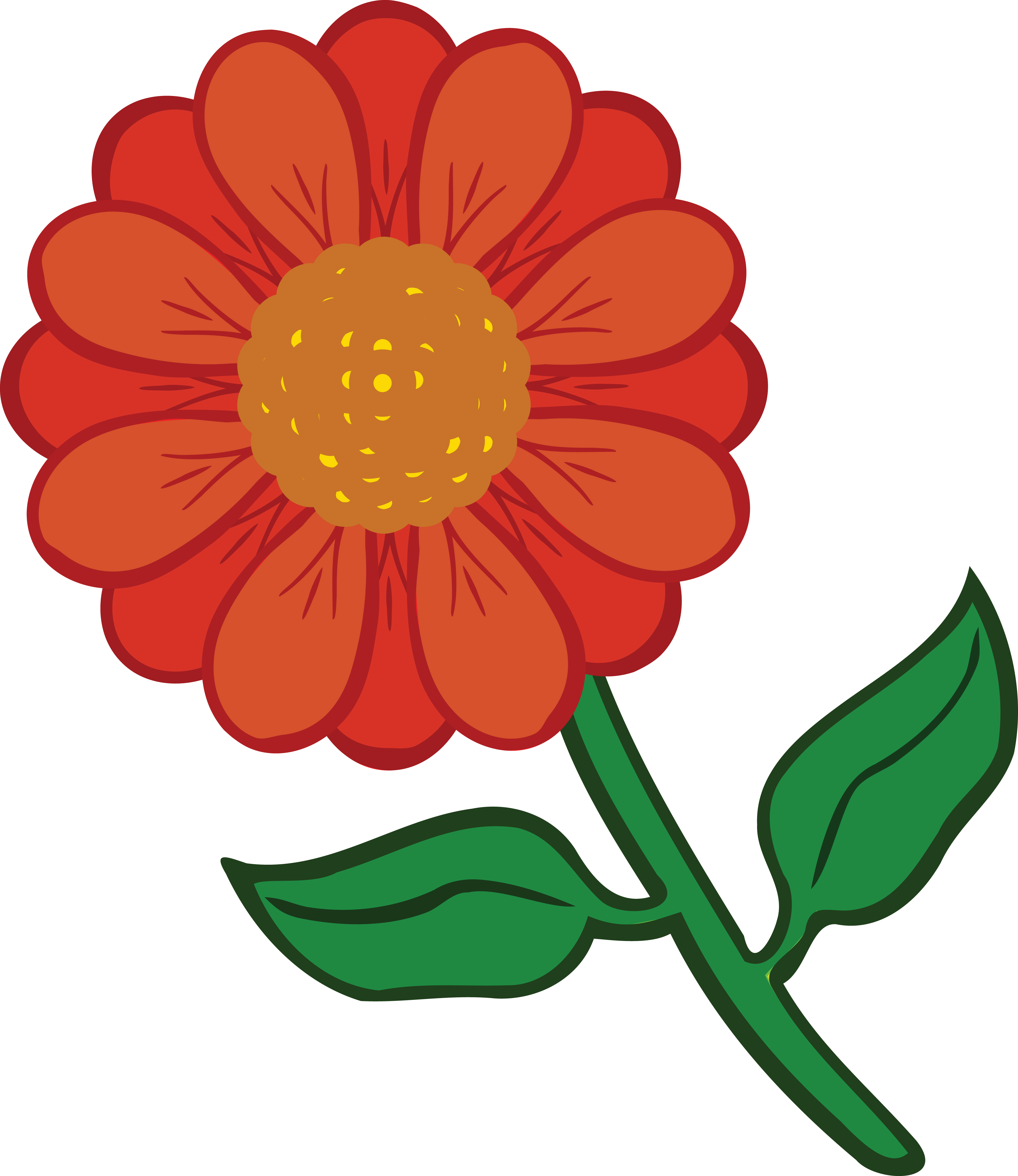 4000x4620 Free Clipart Of A Daisy Flower