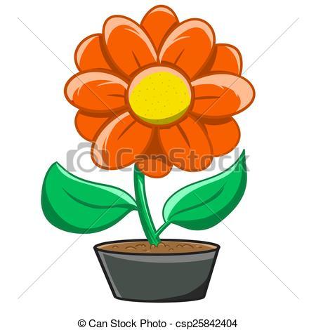 450x470 Illustration Of Flowerpot Verry Beautiful Stock Illustration