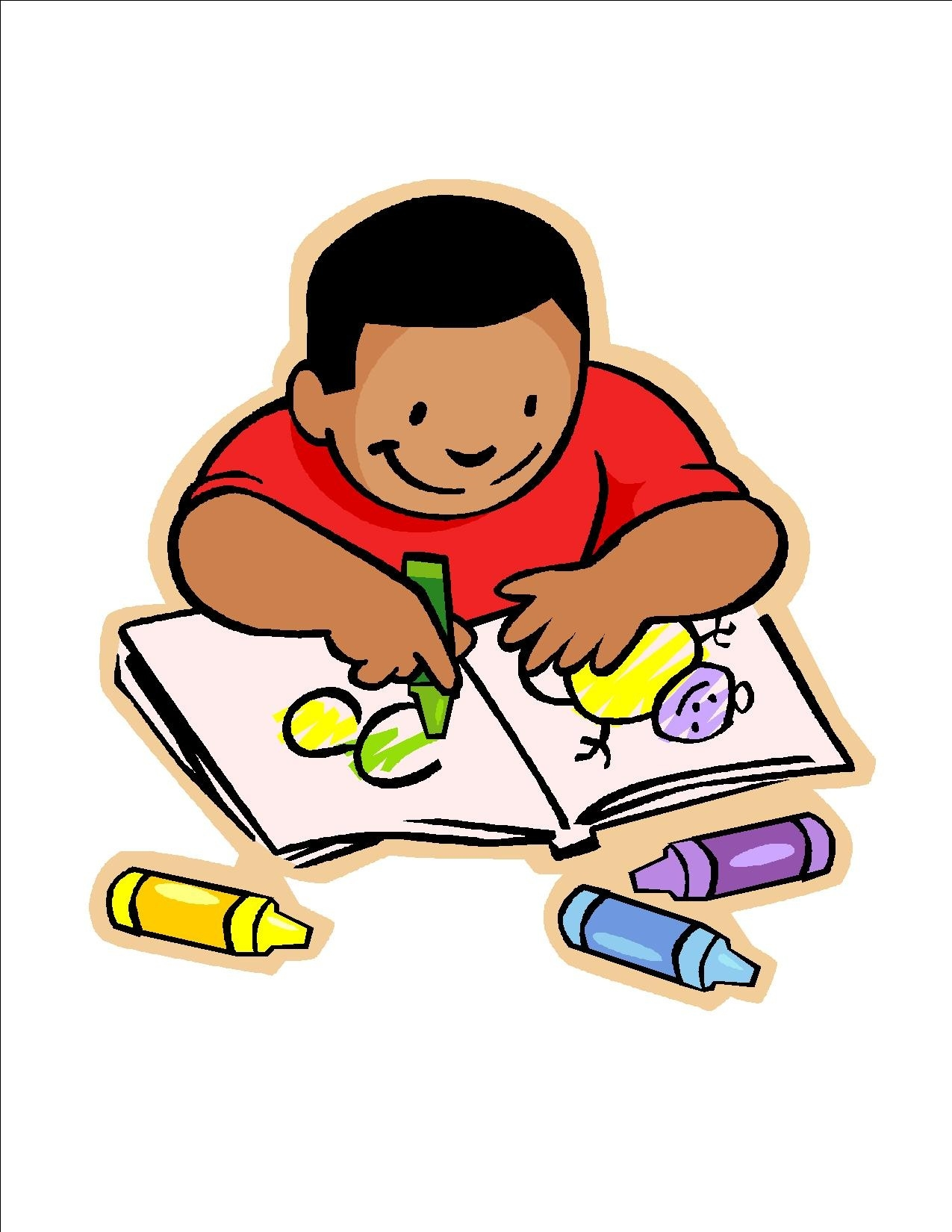 1275x1650 Kids Drawing Clipart