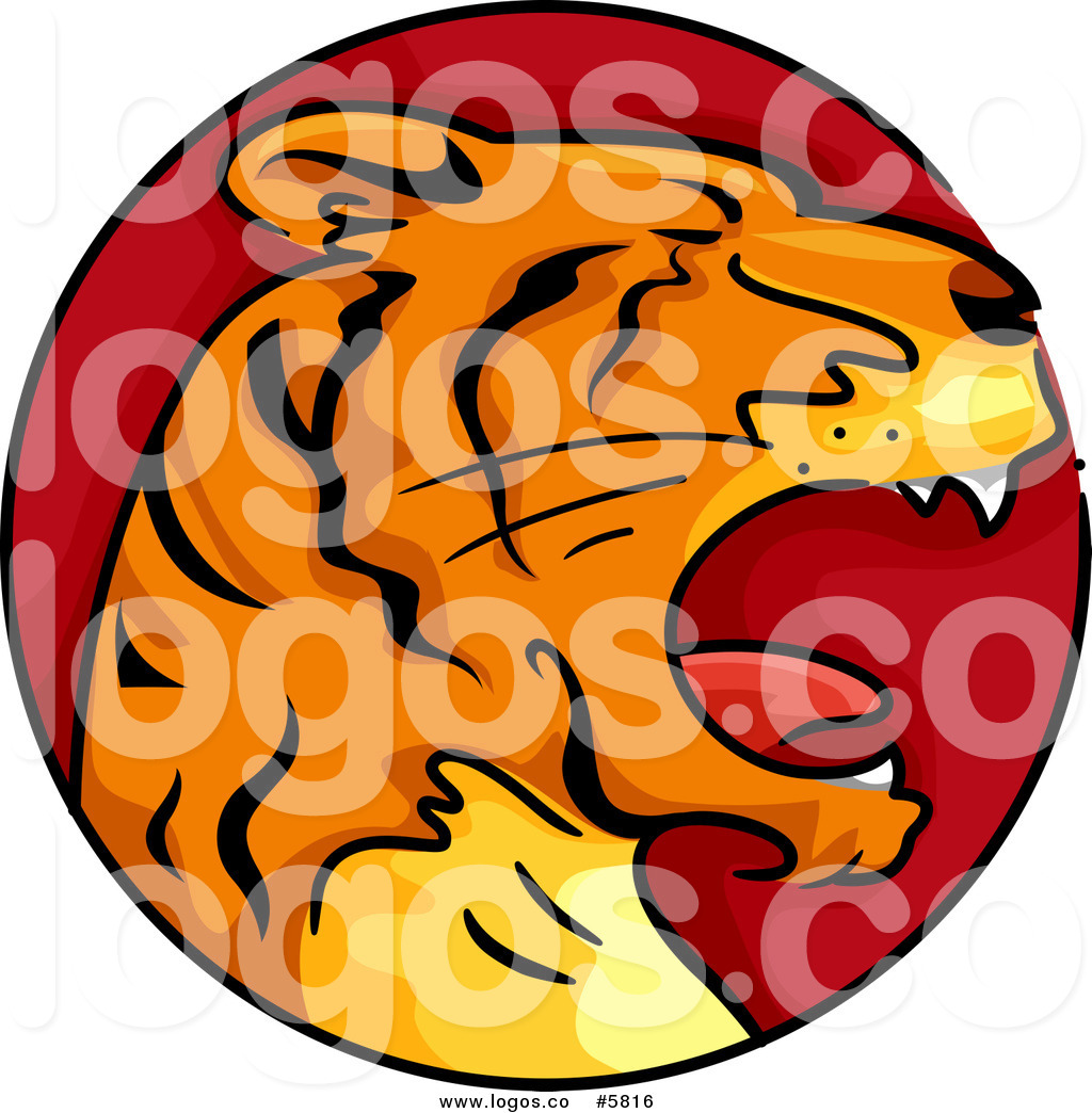 1024x1044 Royalty Free Vector Of A Logo Of A Tiger Chinese Zodiac Circle By