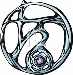 293x300 Silver Capricorn Zodiac Symbol