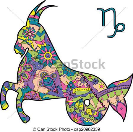 450x448 Vector Illustration Of Capricorn Zodiac Sign Vectors