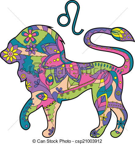 441x470 Vector Illustration Of Leo Zodiac Sign Vector Clip Art