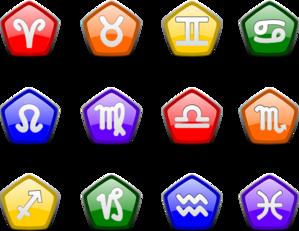 299x231 Zodiac Icons Clip Art