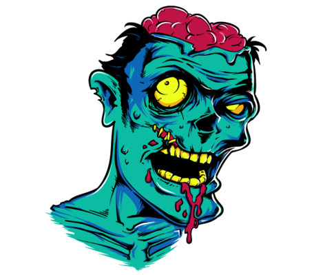 456x399 Free Clip Art Zombie Funny Baby Zombie With Pacifier Vector