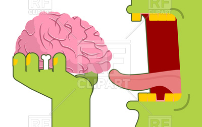 400x252 Zombie Eats Brain Royalty Free Vector Clip Art Image