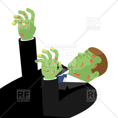 400x399 Zombie With Outstretched Hands Royalty Free Vector Clip Art Image