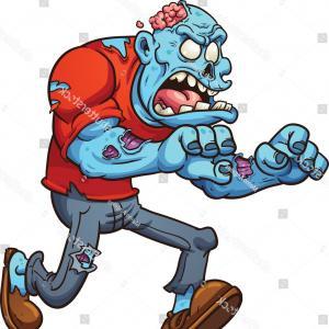 300x300 Cartoon Running Zombie Vector Clip Art Lazttweet