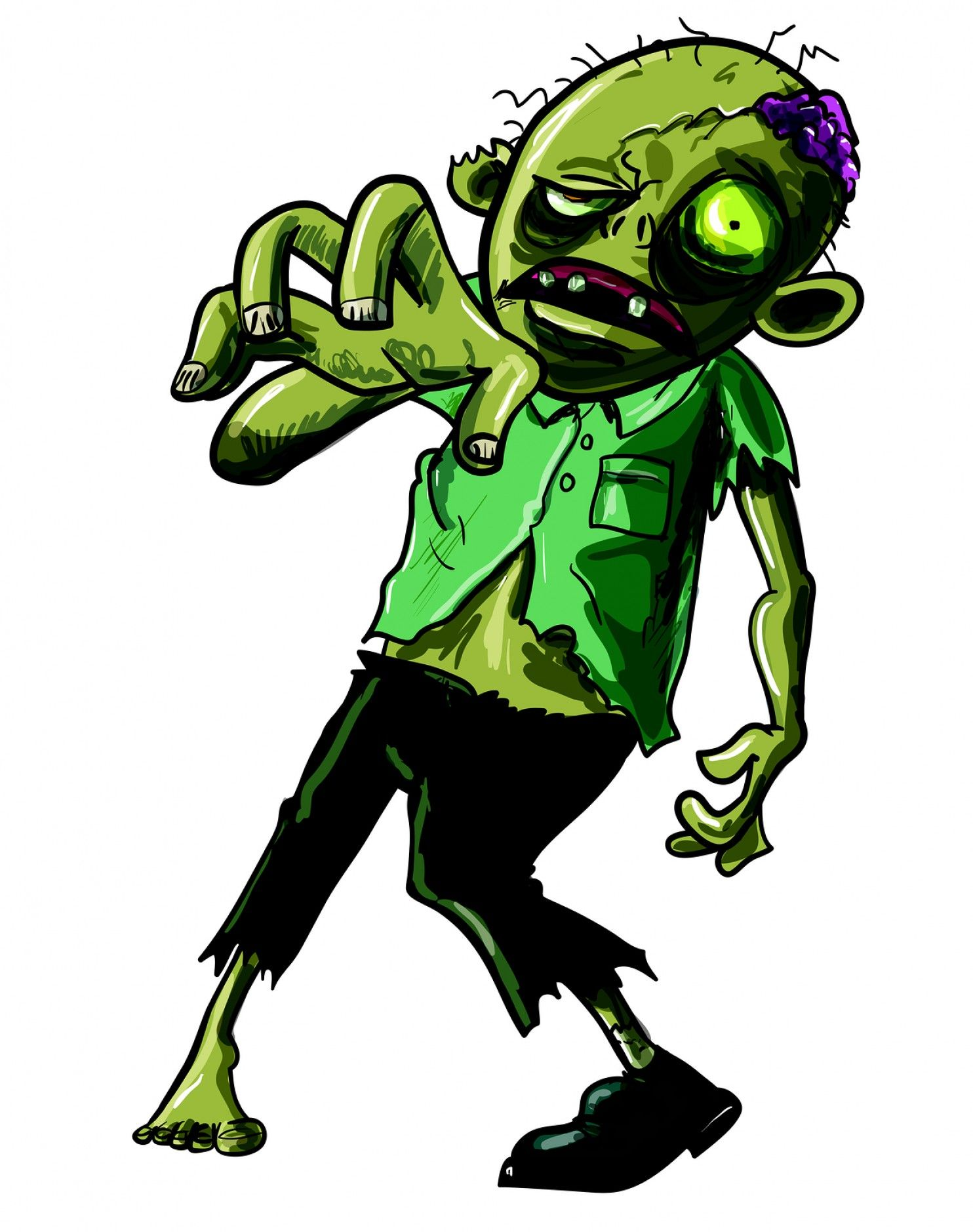 1484x1879 Clipart Of Zombie