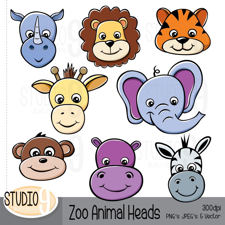 1500x1500 Animal Clipart Zoo Animal Heads Clip Art Zoo Brilliant Animals