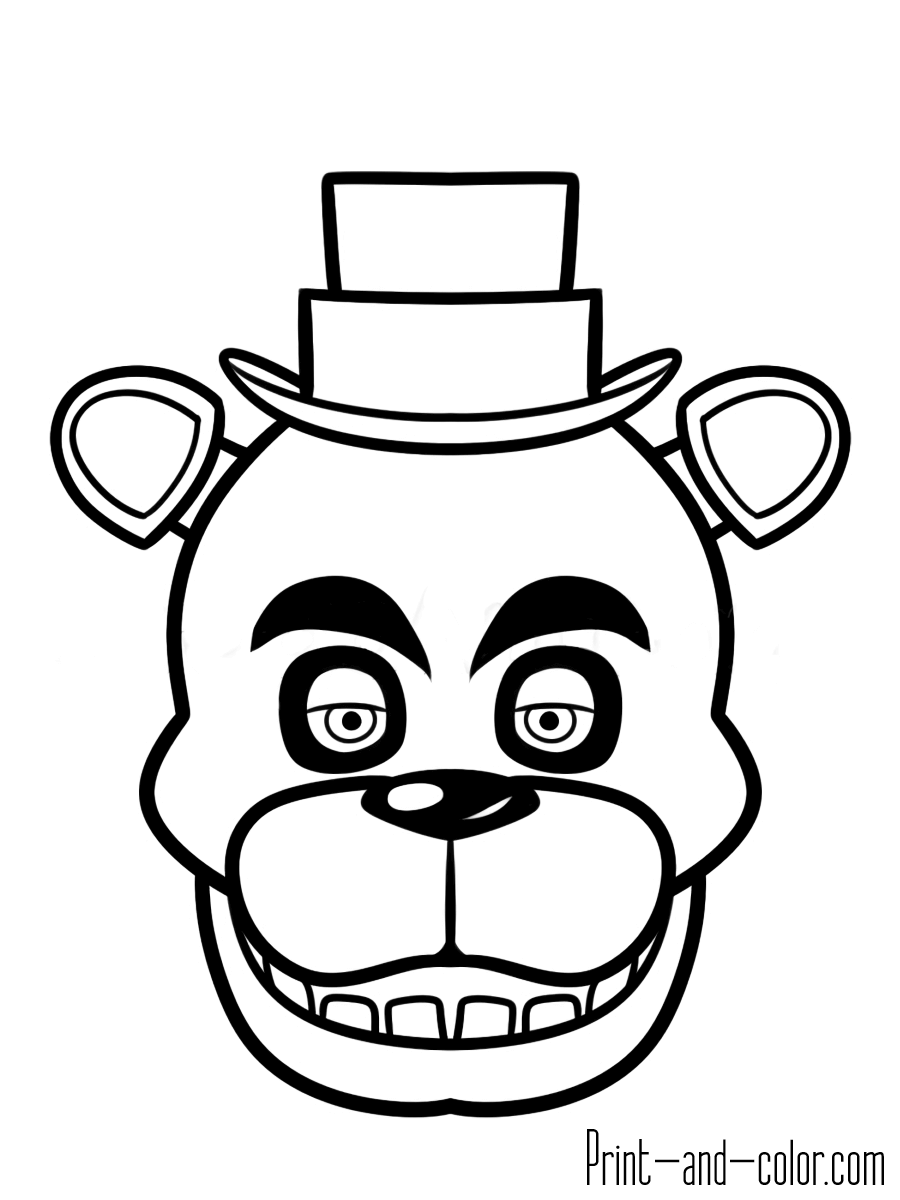 900x1200 Fnaf To Five Nights At Freddys Coloring Pages