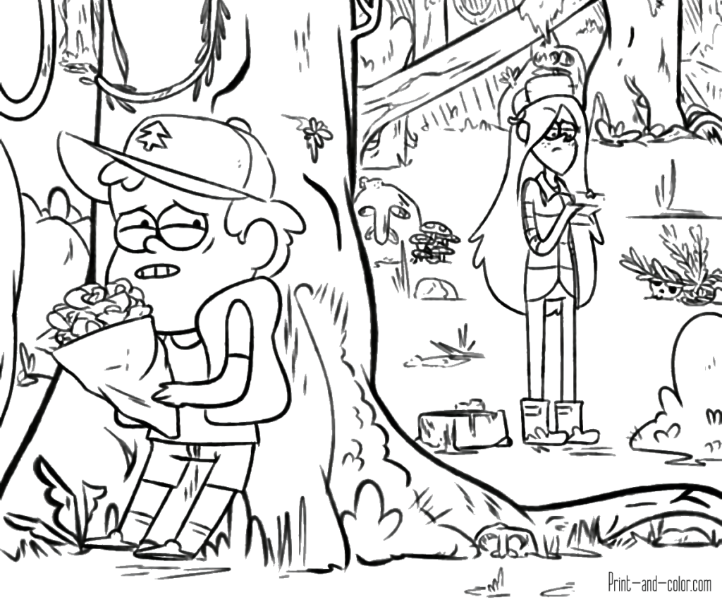 1024x853 Gravity Falls Coloring Pages Print And Color Com