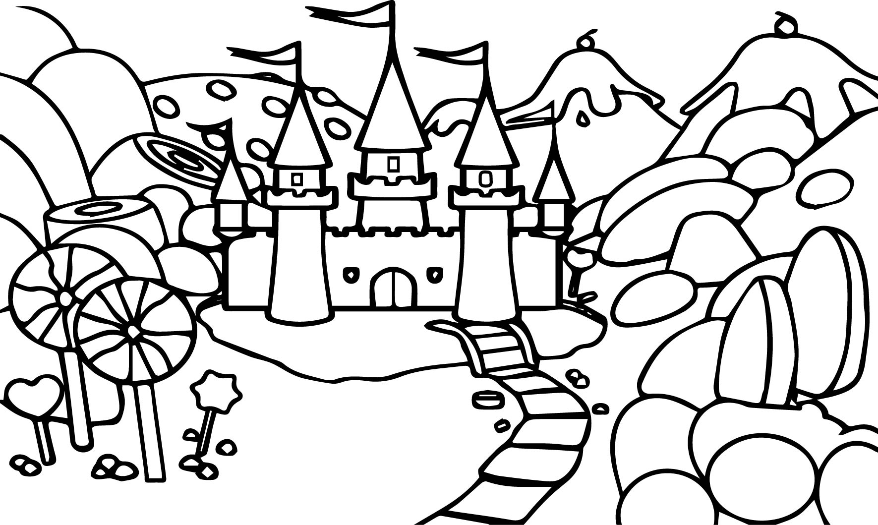 1771x1059 For Candyland Coloring Pages