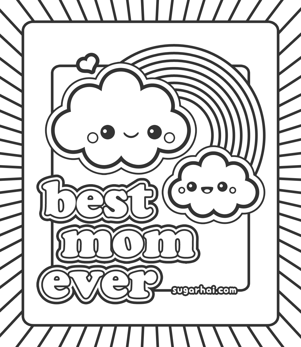 1040x1200 Best Mom Coloring Pages Printable Free Coloring Sheets