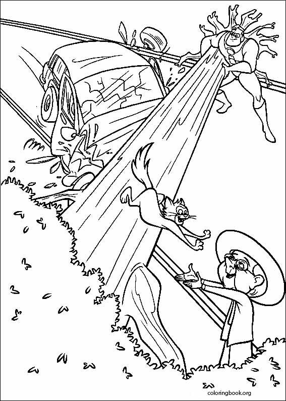 567x794 The Incredibles Coloring Page
