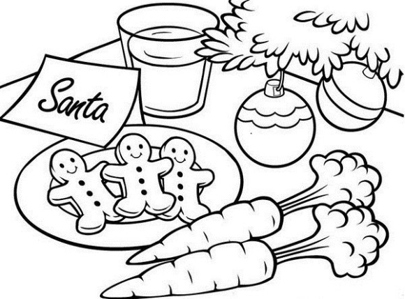 580x429 Christmas Color Pages For Kids Coloring Pages Pretty Gingerbread