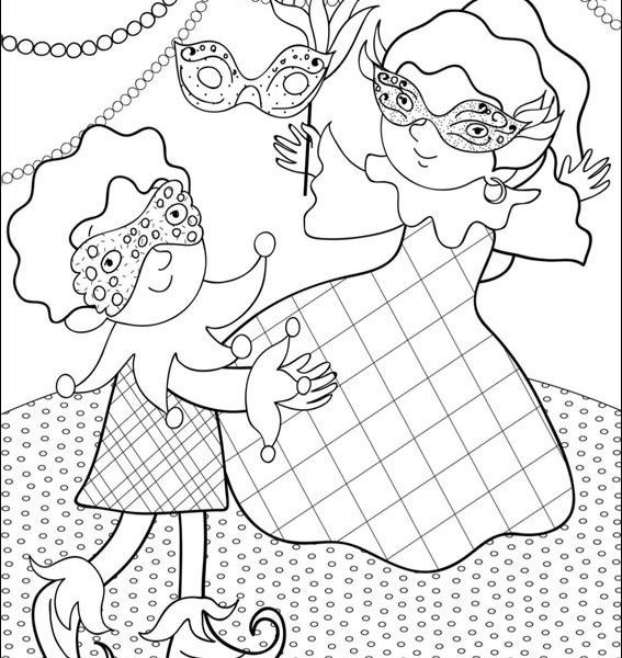 567x600 Carnival Pictures To Colour Drawings To Paint Colour Carnival