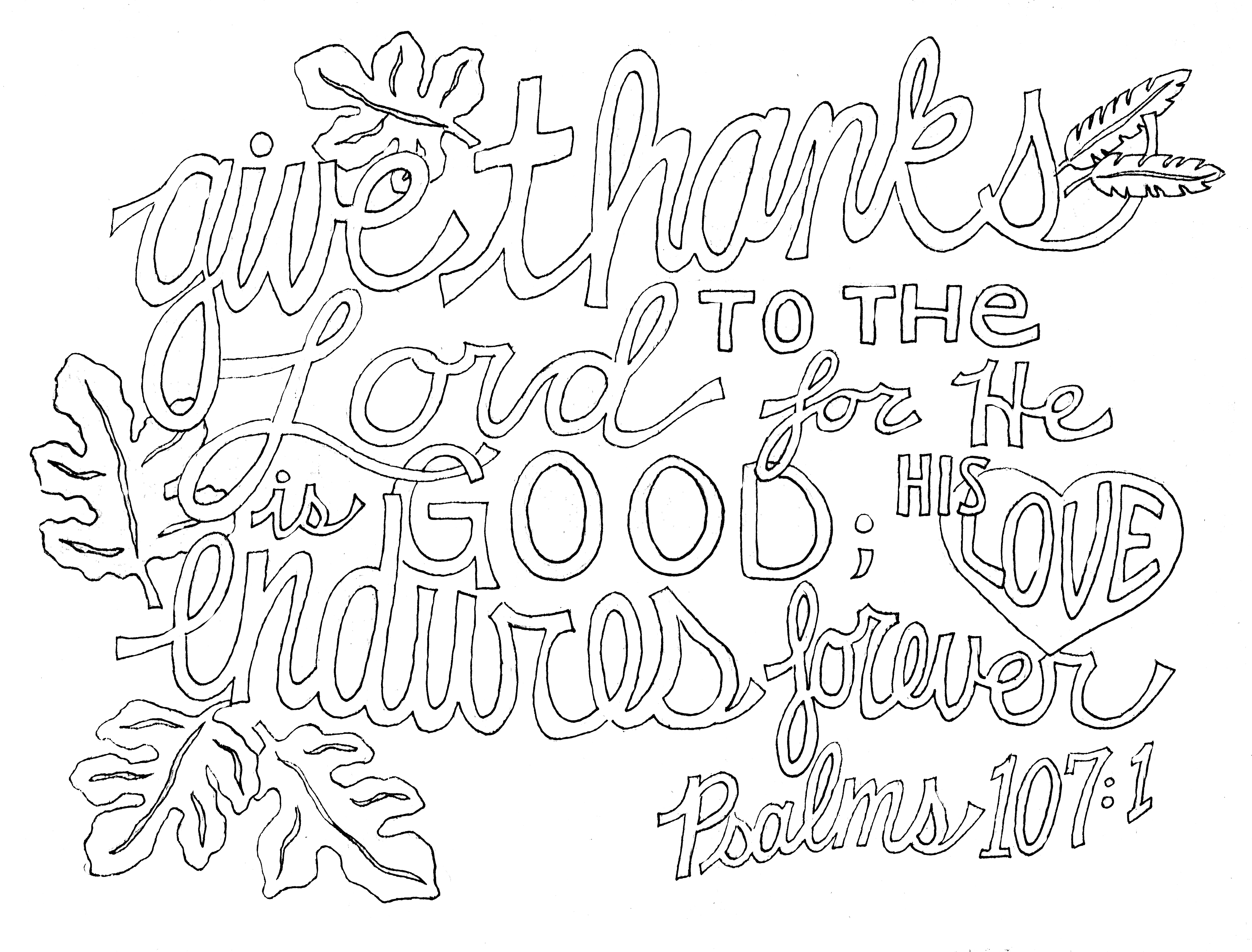7056x5367 Give Thanks Psalm From Victory Road