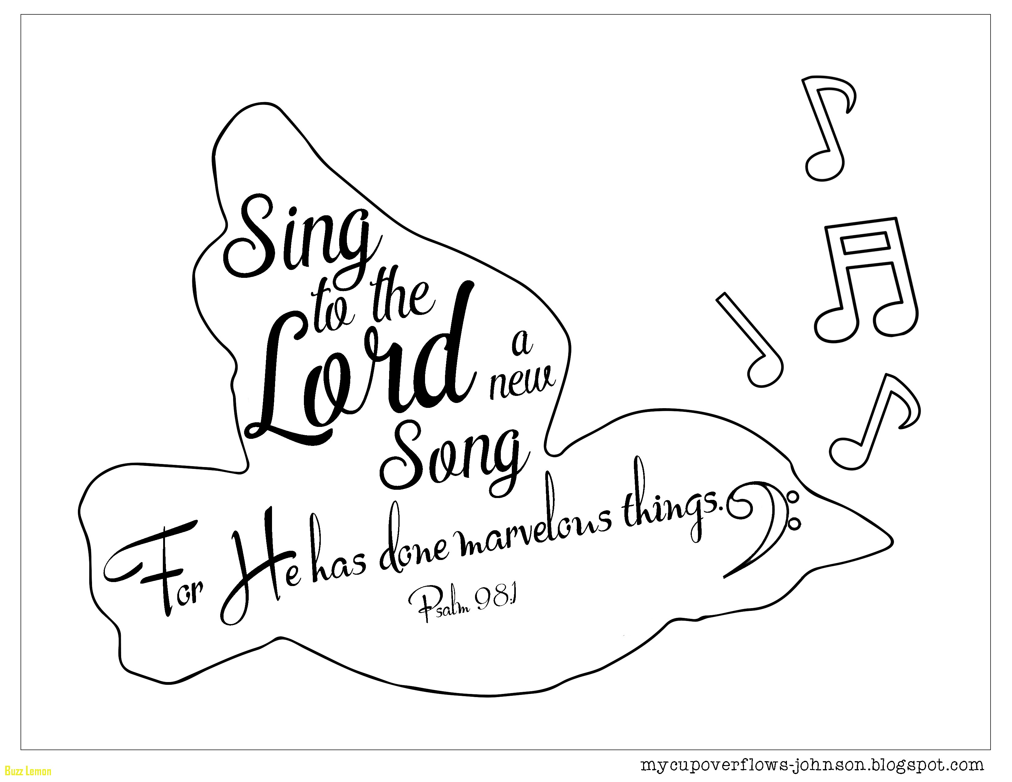 3300x2550 Psalm Coloring Page Beautiful Sing To The Lord A New Song Psalm