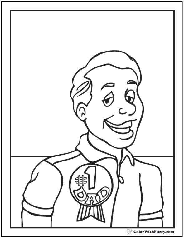 590x762 Father's Day Coloring Pages