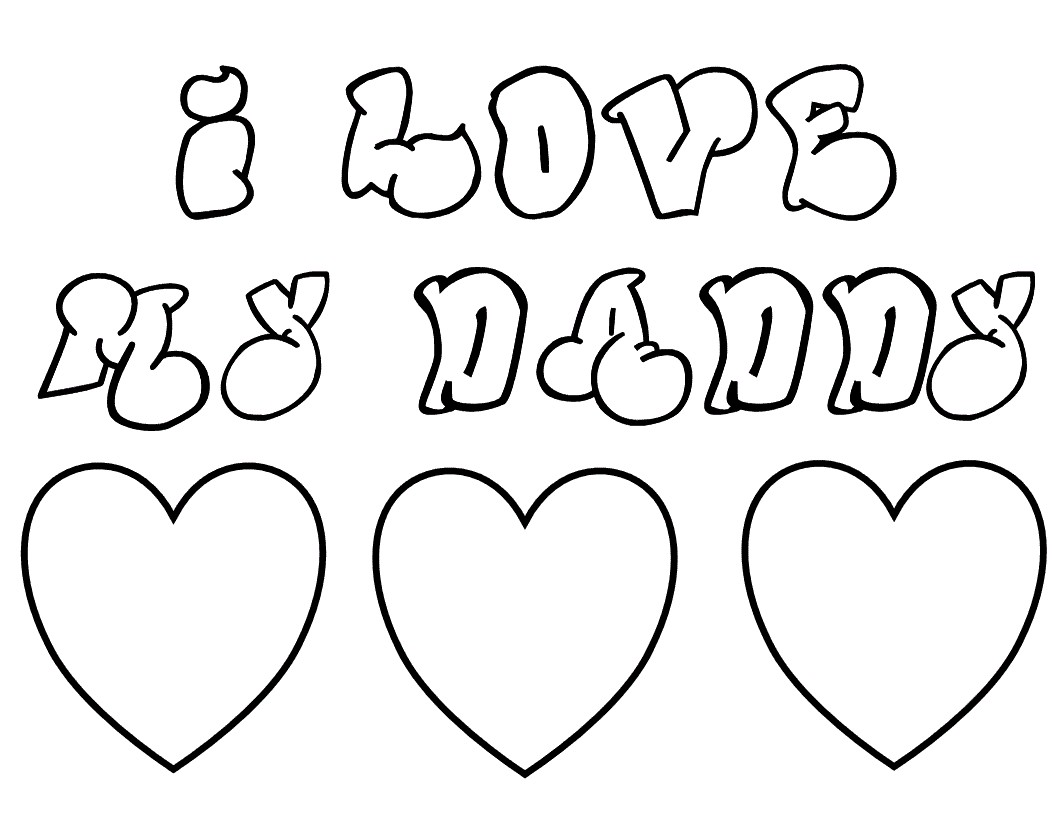 1056x816 I Love You Mommy And Daddy Coloring Pages New I Love My Dad