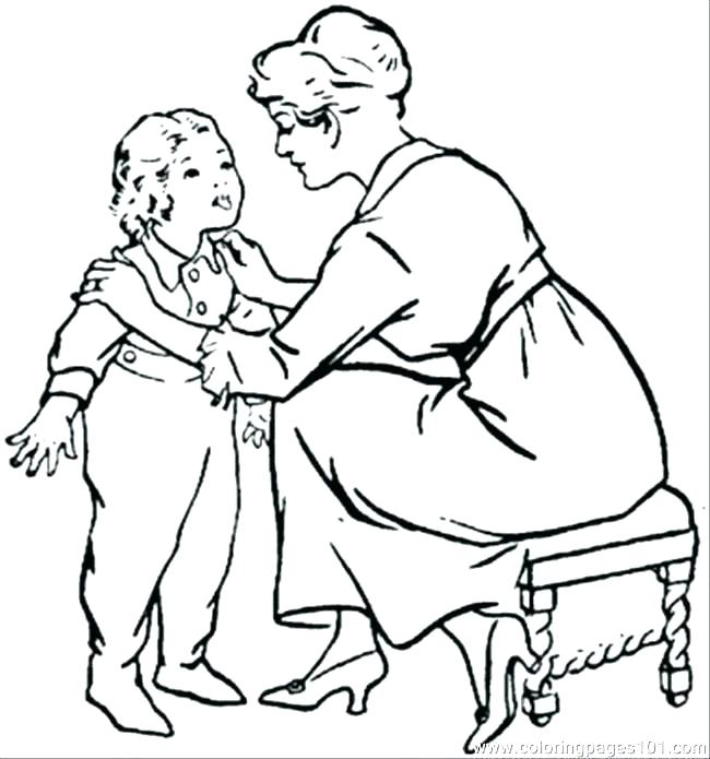 650x695 Mother And Father Coloring Pages Mom Coloring Pages Mom Coloring