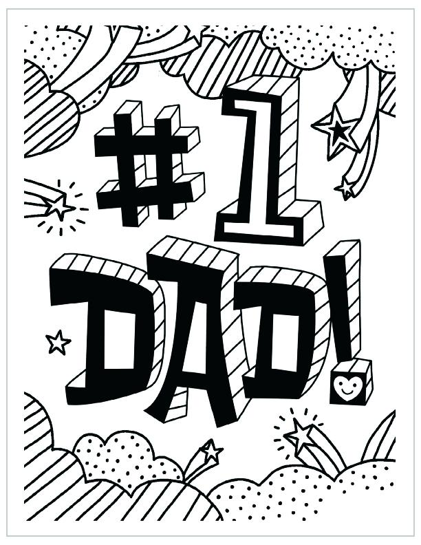 612x792 Coloring Pages For Dad Free Printable Fathers Day Coloring Page