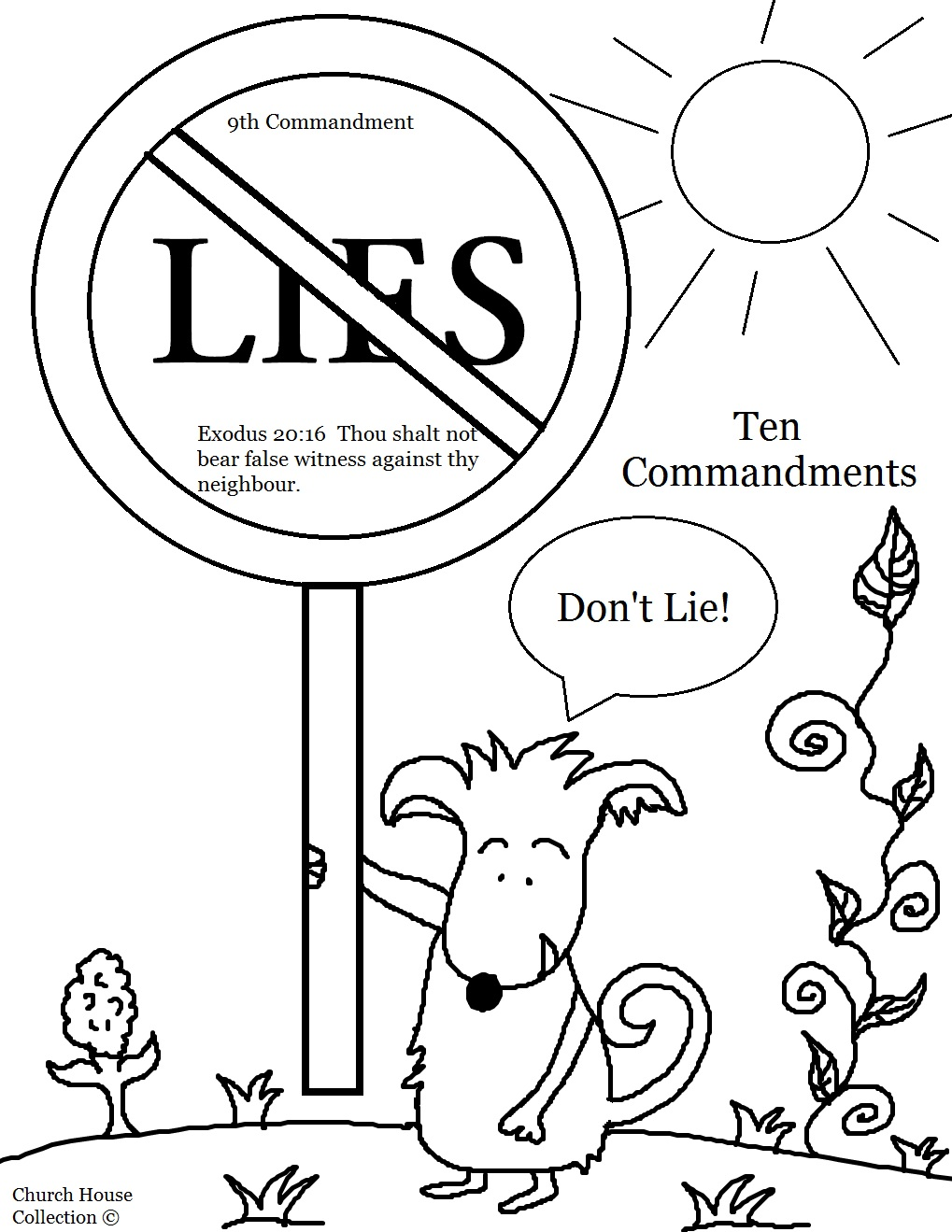 10 Commandments Coloring Pages