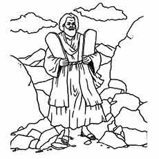 picture regarding Free Printable Moses Coloring Pages named 10 Commandments Coloring Web pages at  No cost for