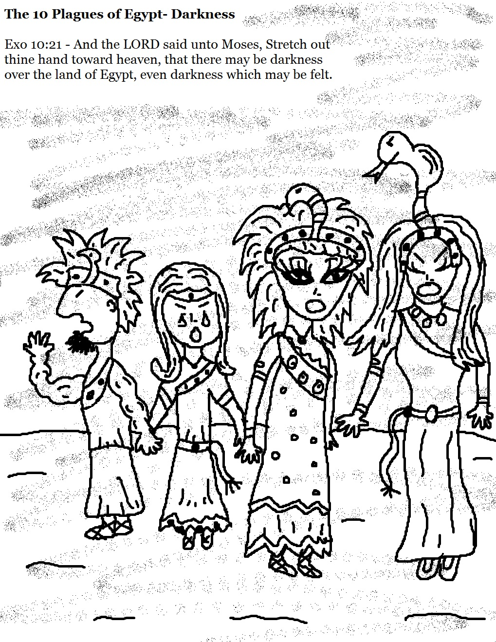1019x1319 Plagues Of Egypt Coloring Page Free Download