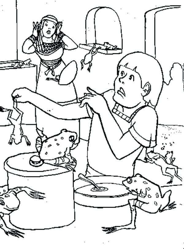600x813 Plagues Coloring Pages Frogs Is All Over The Place In Plagues