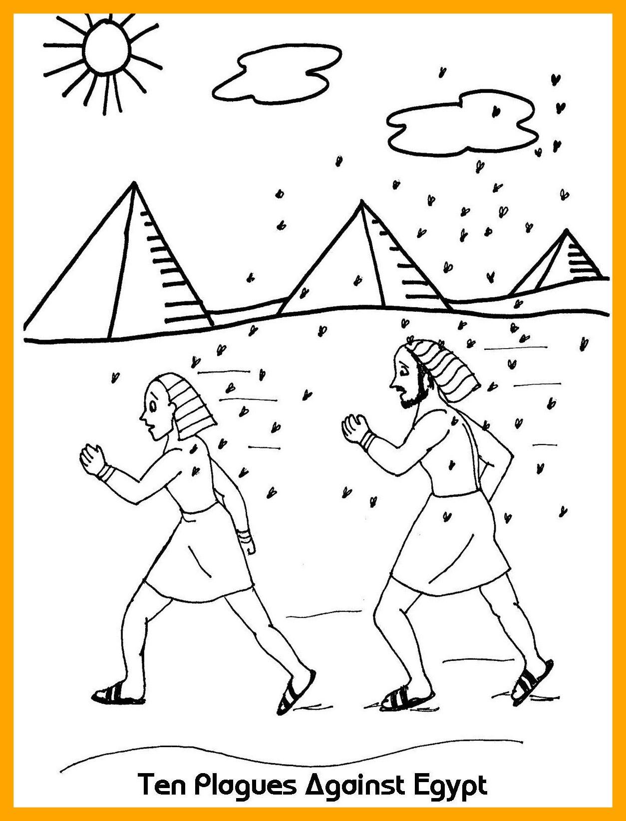 1254x1646 Marvelous Amazing Ten Plagues Against Egypt Coloring Sheet