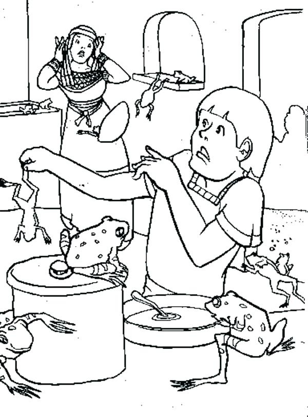 600x813 Plagues Of Egypt Coloring Pages Luxury Ten Plagues Of Coloring